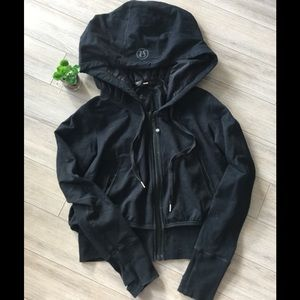Rare Lululemon Black Zip Up Hoodie Size 10